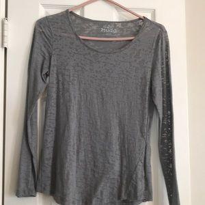 Burnout T-shirt - long sleeve - gray.
